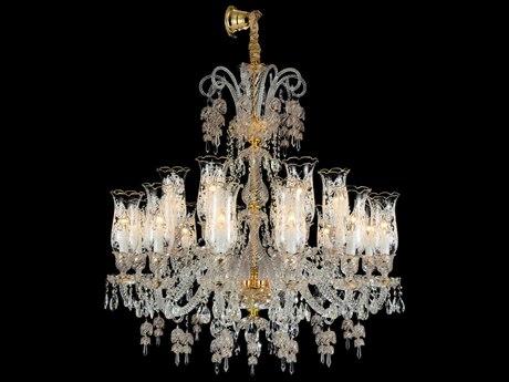 Aico Furniture Michael Amini Garnier Gold 18-Light 40'' Wide Chandelier AICLTCH90118GLD