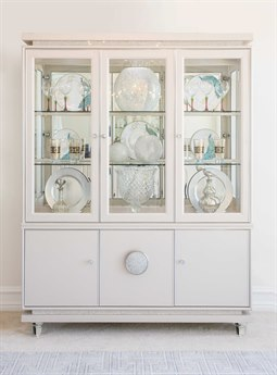 Aico Furniture Michael Amini Glimmering Heights Ivory China Cabinet AIC9011005006111