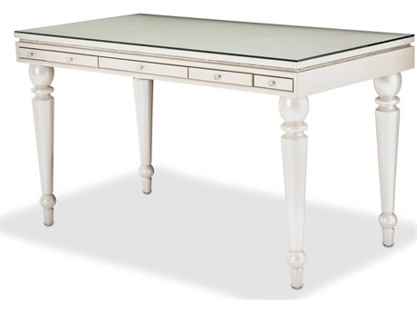 Aico Furniture Michael Amini Glimmering Heights Ivory 54''W x 28''D Rectangular Executive Desk