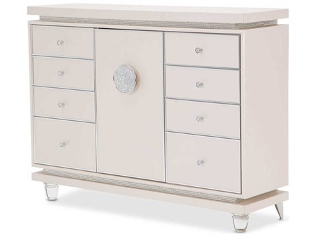 Aico Furniture Michael Amini Glimmering Heights Ivory Eight-Drawer Triple Dresser