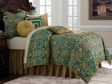 Aico Furniture Michael Amini Grand Masterpiece Aristocrat Nine-Piece King Comforter Set AICBCSQS09ARICRTTUR