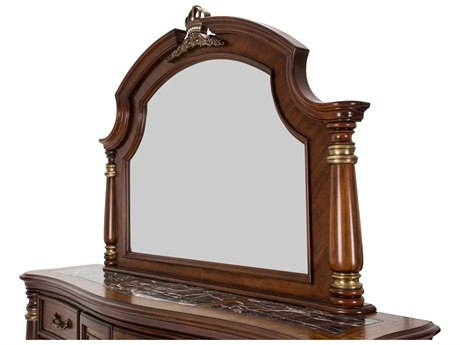 Aico Furniture Michael Amini Grand Masterpiece Royal Sienna 64''W x 48''H Dresser Mirror AIC9050060402