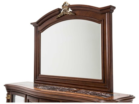 Aico Furniture Michael Amini Grand Masterpiece Royal Sienna 63''W x 48''H Wall Mirror AIC9050067402
