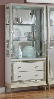 Aico Furniture Michael Amini Hollywood Loft Frost Curio AIC9001605104