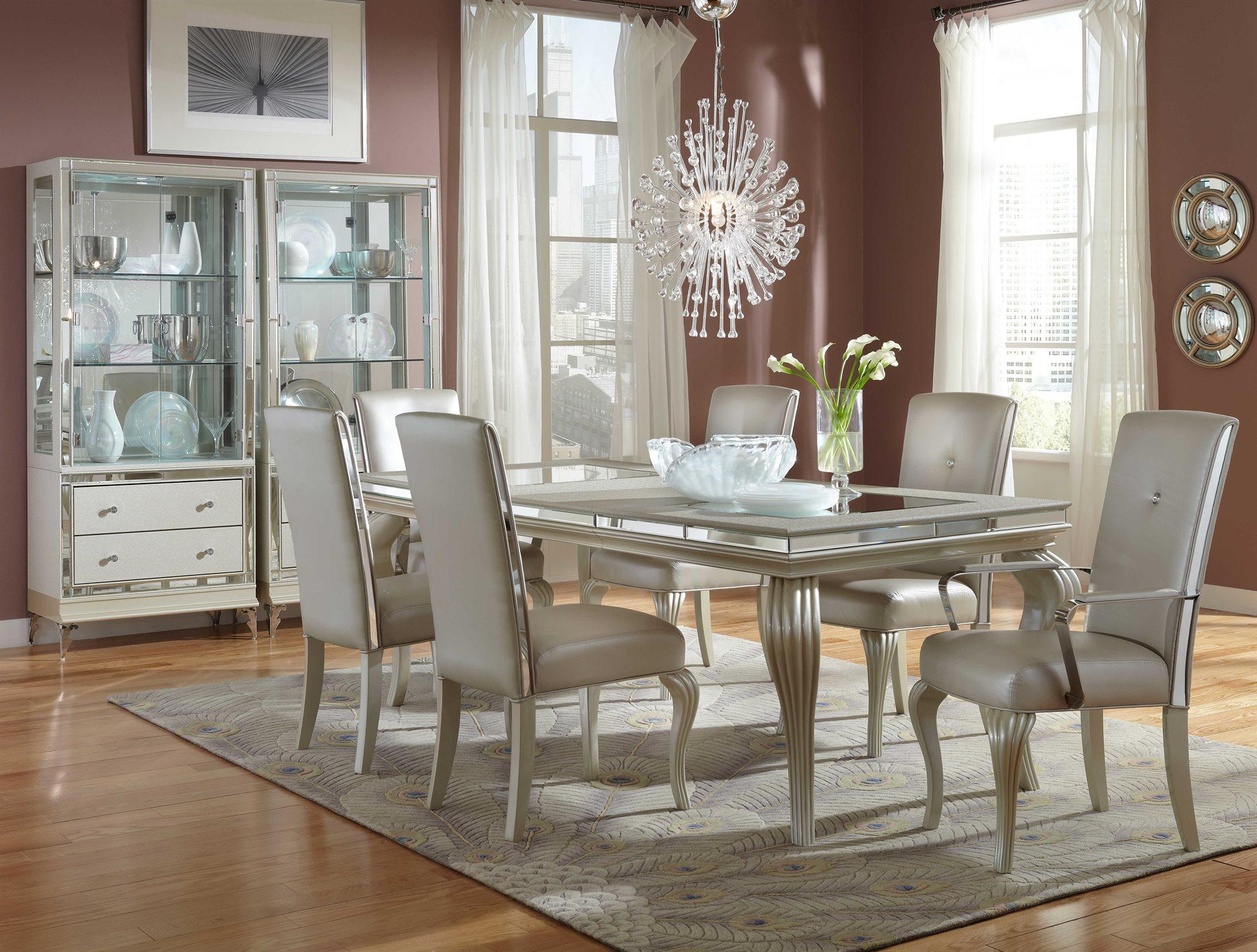 Aico Furniture Hollywood Loft Dining Room Set Aic9001600104set