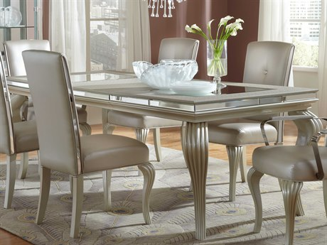 Aico Furniture Michael Amini Hollywood Loft Glass / Frost 64-88''W x 40''D Rectangular Dining Table AIC9001600104