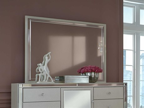 Aico Furniture Michael Amini Hollywood Loft Pearl 42''W x 35''H Rectangular Dresser Mirror AIC900166008