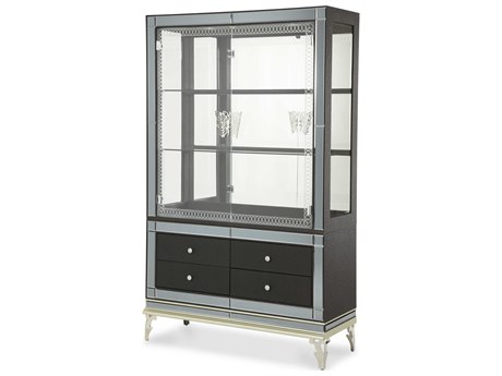 Aico Furniture Michael Amini Hollywood Swank Caviar Curio AICNT0351585
