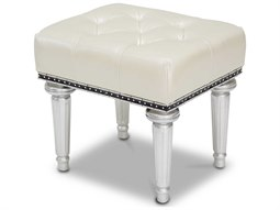 Aico Furniture Michael Amini Hollywood Swank Cream Pearl Vanity Bench