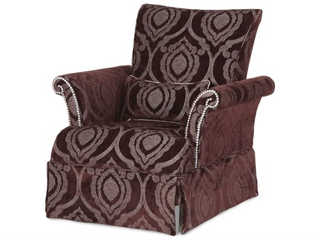 Aico Furniture Michael Amini Hollywood Swank Amethyst Accent Chair AIC03836AMYTH00