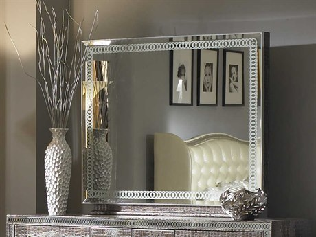Aico Furniture Michael Amini Hollywood Swank Amazing Gator 33''W x 41''H Rectangular Dresser Mirror AIC03060R33
