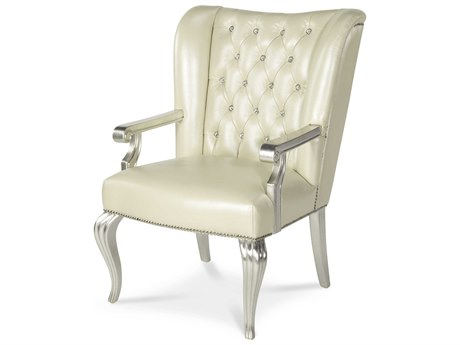 Aico Furniture Michael Amini Hollywood Swank Creamy Pearl 28''W x 31''D Executive Chair AIC0324414