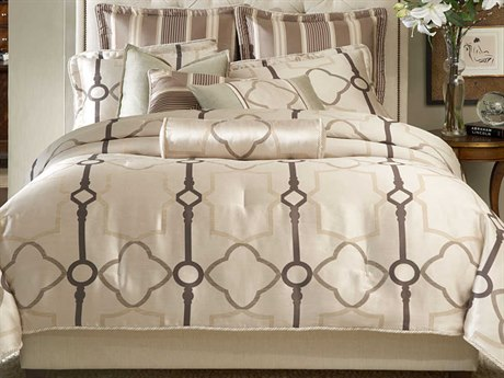 AICO Furniture Keystone Court Comforters AICBCSQS09KEYSTOPRL