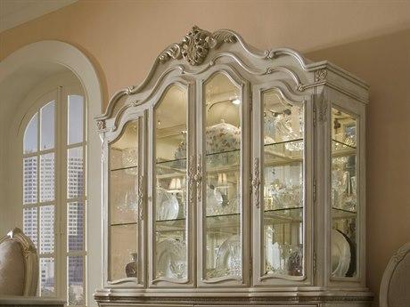 Aico Furniture Michael Amini Lavelle Blanc China Hutch AIC5400504