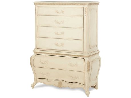 AICO Furniture Lavelle Blanc Six-Drawer Chest of Drawers AIC5407004