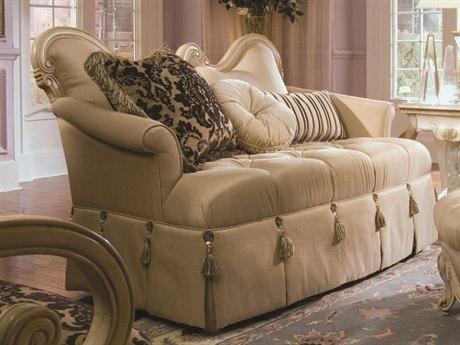 Aico Furniture Michael Amini Lavelle Champagne / Blanc Settee Loveseat AIC54864CHPGN04