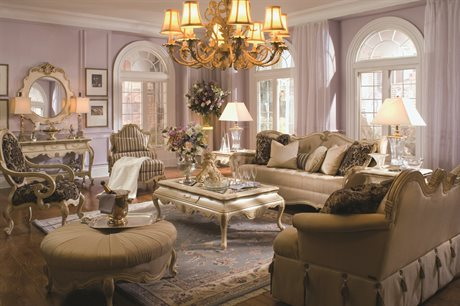 Aico Furniture Lavelle Living Room Set AIC54815CHPGN04SET