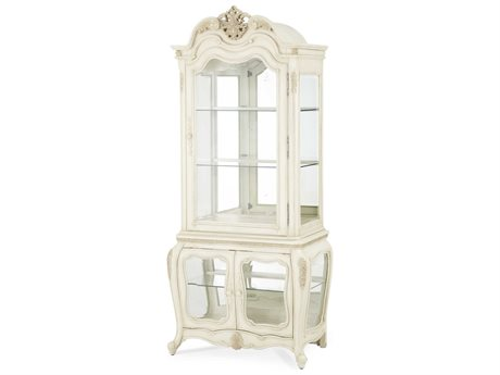 Aico Furniture Michael Amini Lavelle Blanc Curio AIC5450504