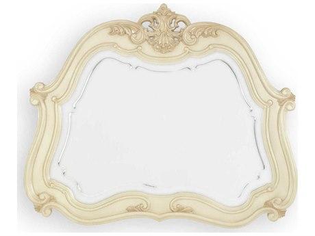 Aico Furniture Michael Amini Lavelle Blanc 52''W x 44''H Wall Mirror AIC5406704
