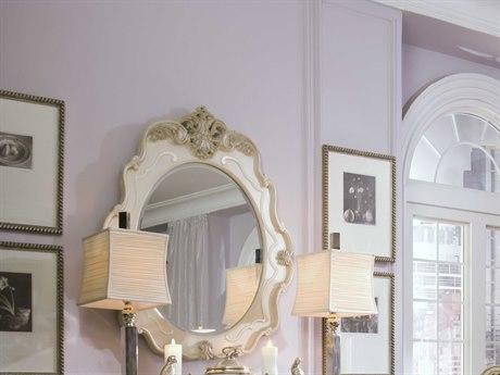Aico Furniture Michael Amini Lavelle Blanc 41''W x 46''H Wall Mirror AIC5426004