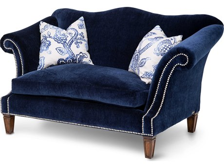 Aico Furniture Michael Amini Los Feliz Navy Loveseat AICSTLSFLZ25NVY45