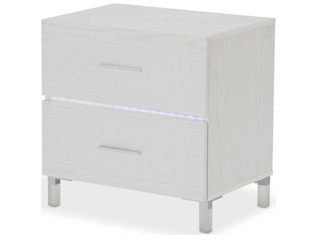AICO Furniture Lumiere 2 Drawers Nightstand AIC9013640104