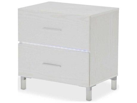 AICO Furniture Lumiere 2 Drawers Nightstand