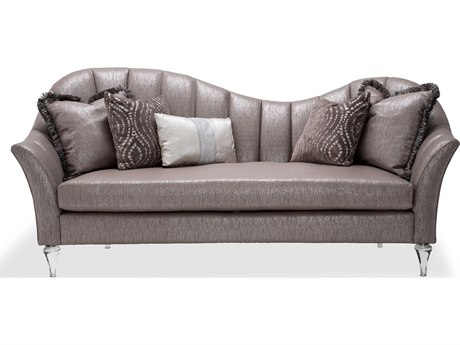 Aico Furniture Michael Amini Maritza Opal Channel Back Sofa AICSTMRITZ15OPL002