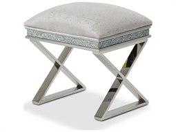 Aico Furniture Michael Amini Melrose Plaza Dove Vanity Bench