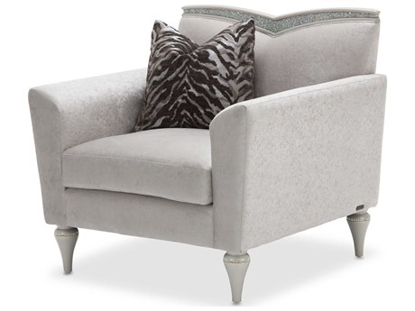 Aico Furniture Michael Amini Melrose Plaza Dove Grey Club Chair AIC9019835DVGRY118