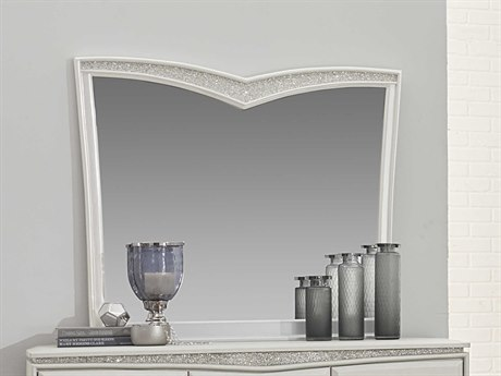 Aico Furniture Michael Amini Melrose Plaza Dove 44'' Wide Dresser Mirror AIC9019260118