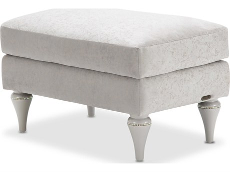 Aico Furniture Michael Amini Melrose Plaza Dove Grey Ottoman AIC9019875DVGRY118