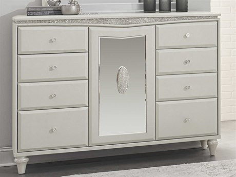 Aico Furniture Michael Amini Melrose Plaza Dove Eight-Drawer Triple Dresser AIC9019050118