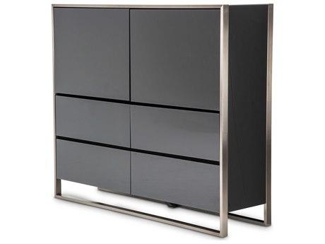 Aico Furniture Michael Amini Metro Lights Black Buffet AIC9010070809