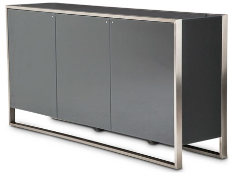 Aico Furniture Michael Amini Metro Lights Black / Black Nickel Sideboard