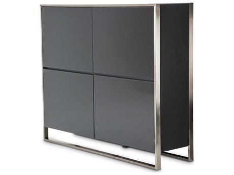 Aico Furniture Michael Amini Metro Lights Black / Black Nickel Buffet AIC9010009809