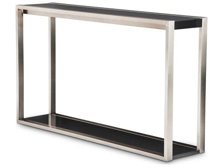 Aico Furniture Michael Amini Metro Lights Black / Black Nickel 58''W x 14''D Rectangular Console Table AIC9010223809