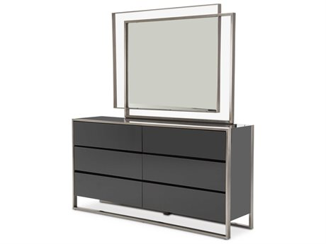Aico Furniture Metro Lights Double Dresser with Dresser Mirror Set AIC9010050809SET