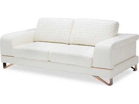 AICO Furniture Mia Bella Sofa Couch AICMBBIANC15WHT801
