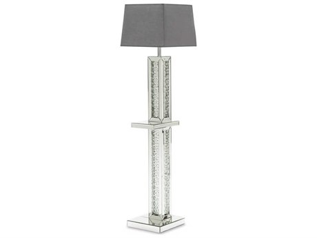 AICO Furniture Montreal Crystal Glass Floor Lamp AICFSMNTRL191