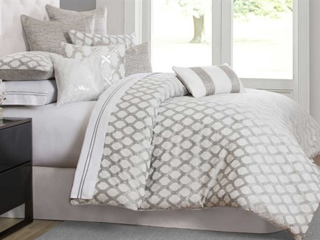 AICO Furniture Newport Comforters AICBCSKS10NWPRTPLTN