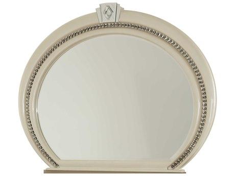Aico Furniture Michael Amini Overture Cristal 61''W x 47''H Oval Dresser Mirror AIC0806010