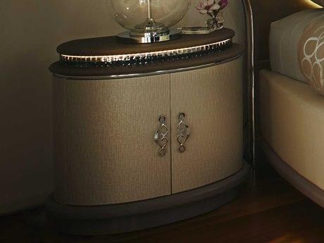 Aico Furniture Michael Amini Overture Cristal Nightstand