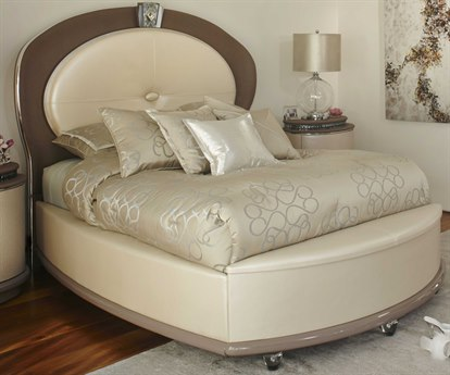 Aico Furniture Michael Amini Overture Creamy Pearl Eastern King Platform Bed