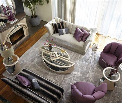 Aico Furniture Overture Living Room Set AIC08815RPLTNM00SET