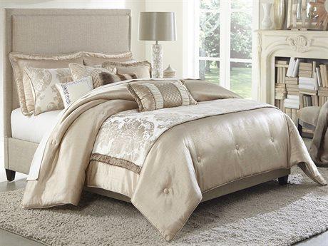 Aico Furniture Michael Amini Palermo Sand Nine-Piece King Comforter Size