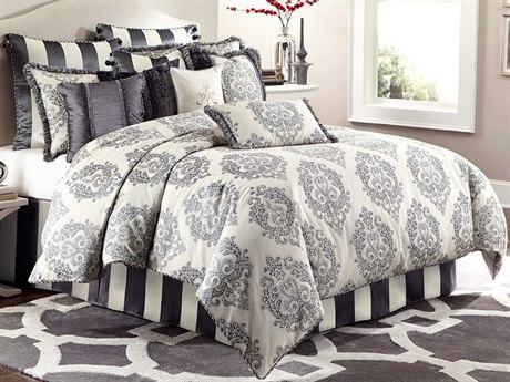 AICO Furniture Peyton Comforters AICBCSQS12PYTONGRA