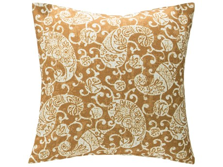Aico Furniture Michael Amini Kendari Ginger Decorative Pillow AICBCSDP22KNDARGGR