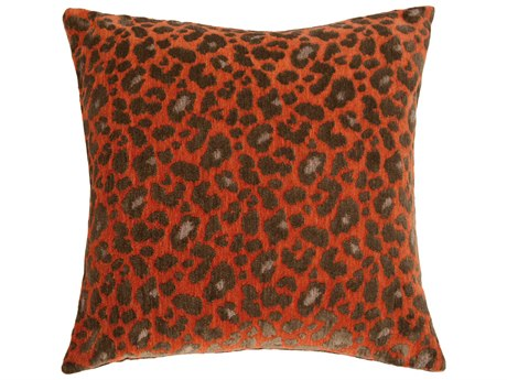 Aico Furniture Michael Amini Wild Life Persimmon Decorative Pillow AICBCSDP22WLDLFPSM