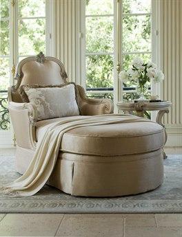 Aico Furniture Michael Amini Platine De Royale Champagne / Antique Platinum Chaise Lounge AIC09845CHPGN201
